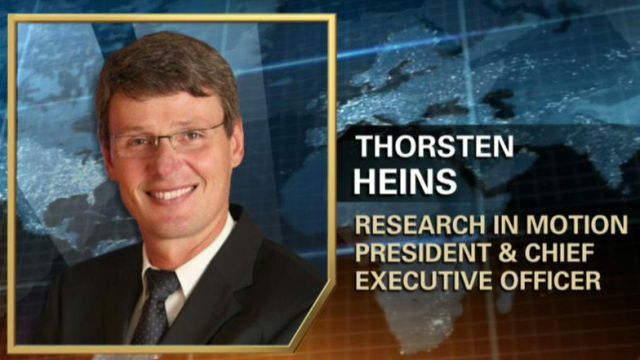 Thorsten Heins, Research in Motion CEO, on his new role at RIM and what the shakeup means for the company.
