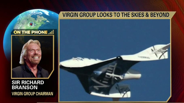 Virgin Group CEO Sir Richard Branson on expanding routes for Virgin America and the future of space flight with Virgin Galactic.
