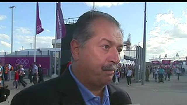 Dow Chemical CEO Andrew Liveris on the state of the global economy and the company's sponsorship of the Olympics and innovative role in the Olympic stadium.