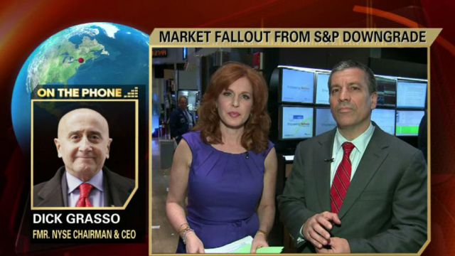 Former NYSE CEO Dick Grasso on S&P downgrade of U.S. credit rating and how the government can boost economic growth.