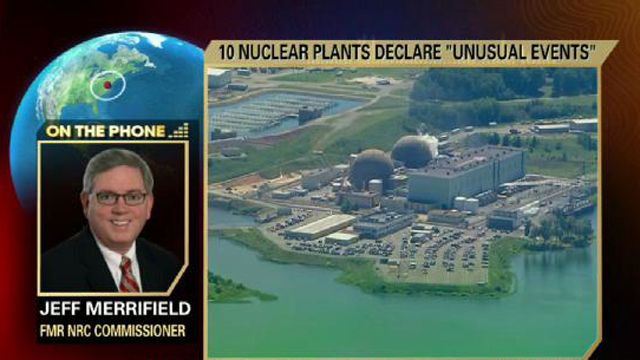 Former NRC Commissioner Jeff Merrifield on the precautions taken at 10 nuclear power plants after the earthquake in Virginia.