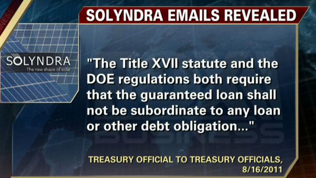 FBN's Rich Edson breaks down details of unreleased emails from the Treasury on concerns over the legality of the Solyndra loan.