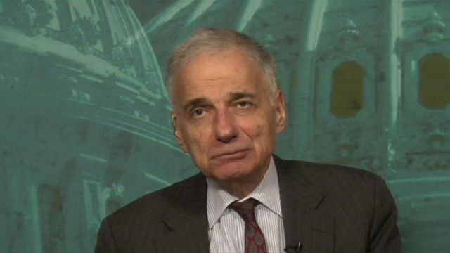 Ralph Nader on Mitt Romney's Taxpayer Comments